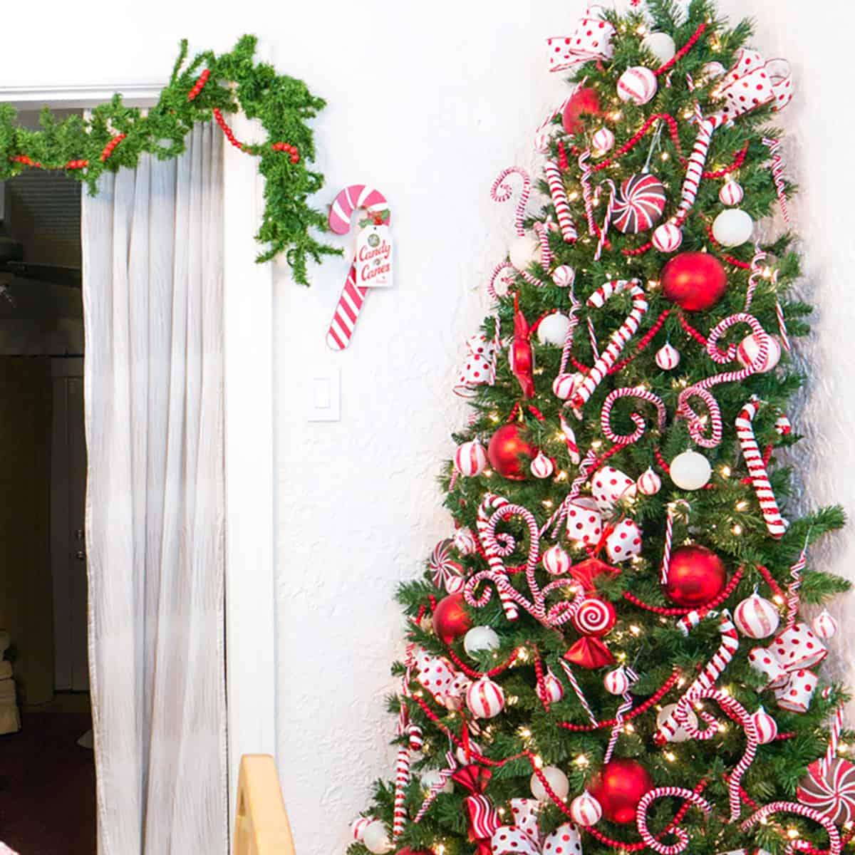 Candy Cane Space Saving Christmas Tree Tried True Creative