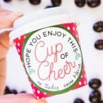 """""""Cup of Cheer"""" Coffee Cup Christmas Gift"""