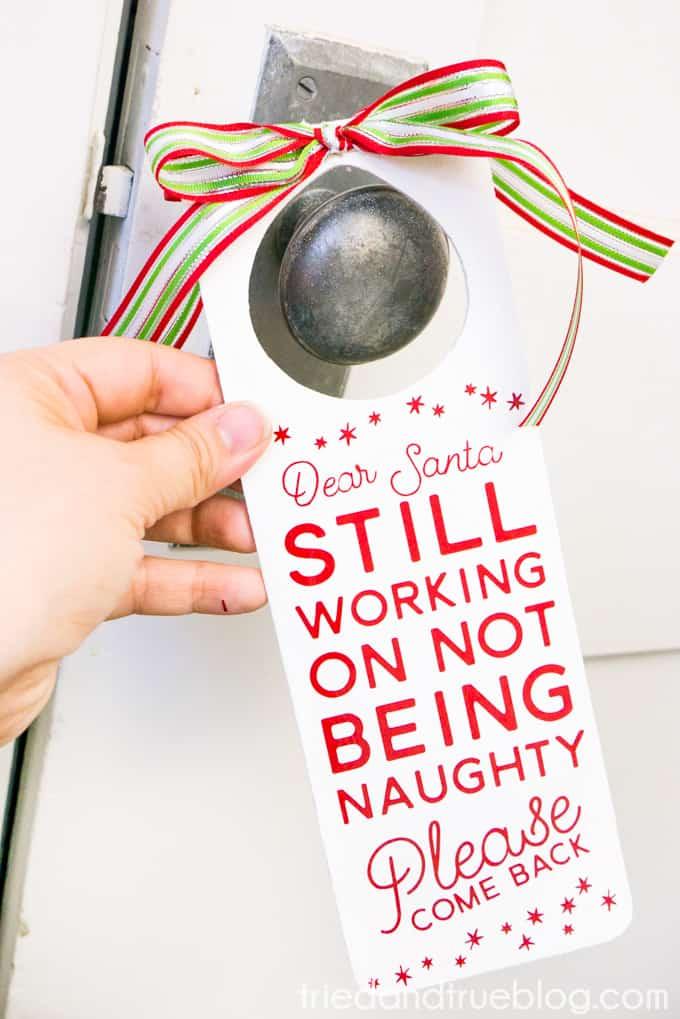 Naughty And Nice Christmas Door Hanger Tried True Creative