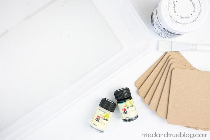 DIY Marble Coasters - Supplies