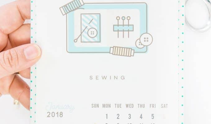Free File Fridays: Crafty Calendar 2018