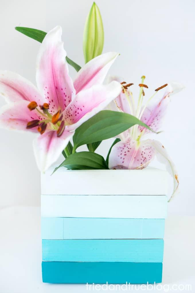 Easy Wood Frame Gradient Vase - Add Flowers
