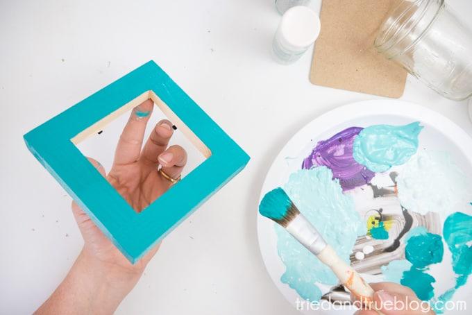 Easy Wood Frame Gradient Vase - Darkest Color