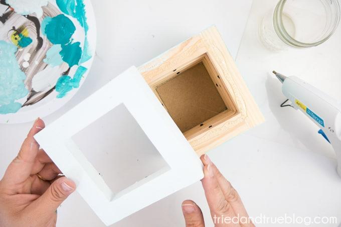 Easy Wood Frame Gradient Vase - Top