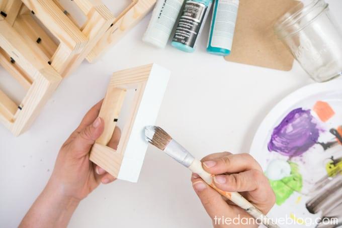 Easy Wood Frame Gradient Vase - Lightest Color