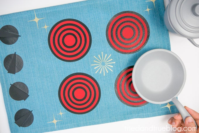 Mid-Century Fabric Play Kitchen with Free Cut File - Play