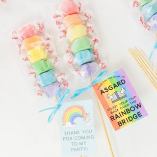 Rainbow Taffy Party Favors