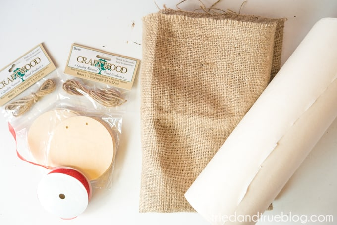 Back To School Burlap Banner - Supplies