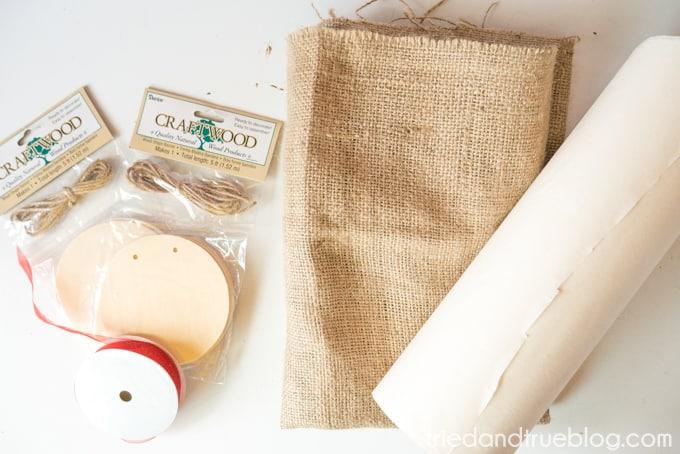 Back To School Burlap Banner - Supplies