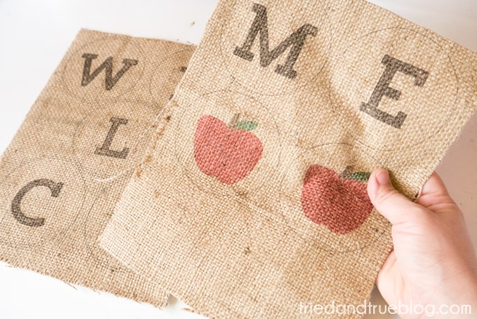 Back To School Burlap Banner - Burlap Print