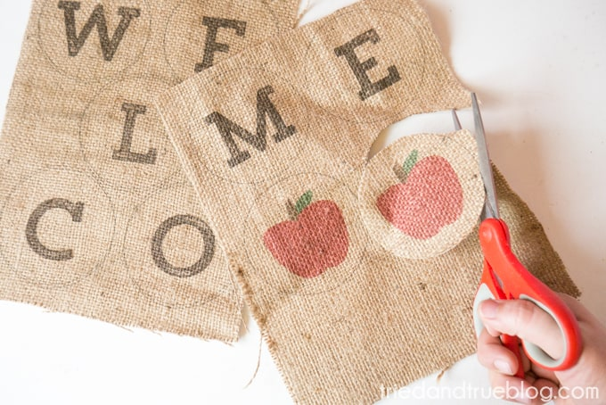 Back To School Burlap Banner - Trim