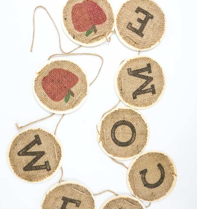 Back To School Burlap Banner - Banner Whole