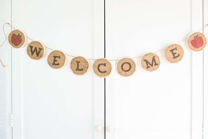 Back To School Burlap Banner - Hang