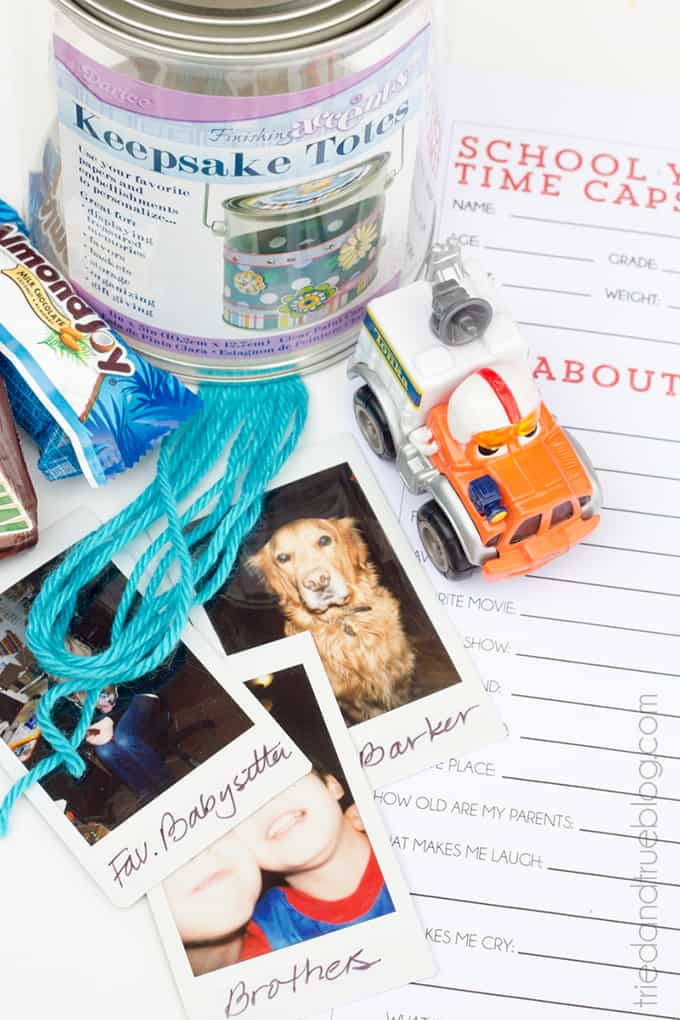 Back To School Year Time Capsule - Supplies