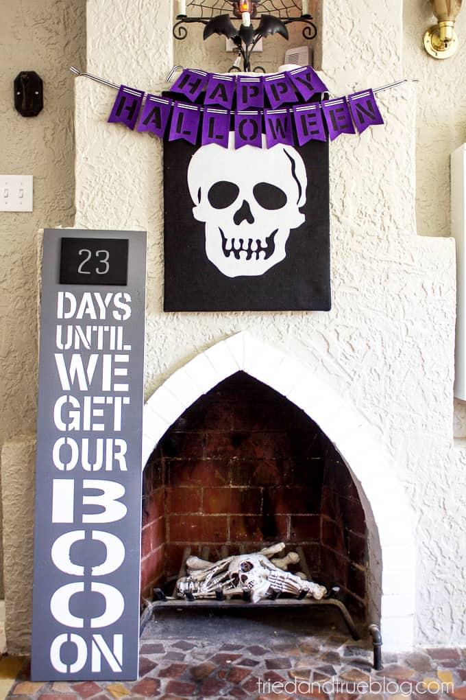 XL Halloween Countdown - Fireplace2