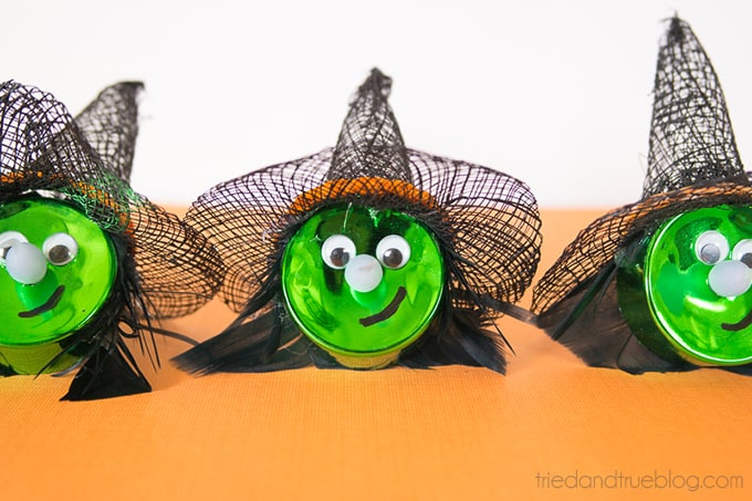 Halloween Witch Tea Light Magnet - Three Witches