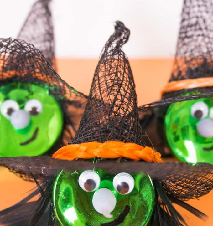 Halloween Witch Tea Light Magnet - Easy to make!