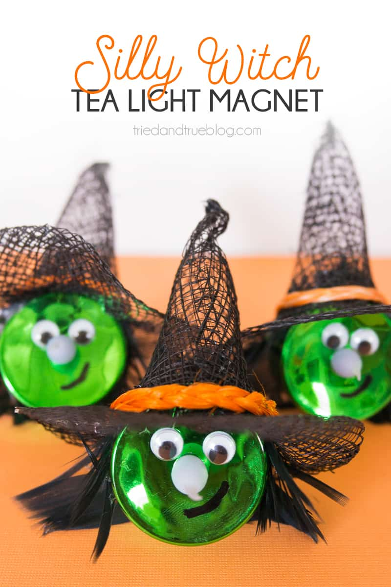 Halloween Witch Tea Light Magnet - triedandtrueblog.com
