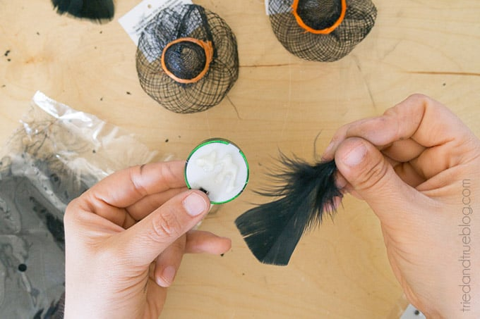 Halloween Witch Tea Light Magnet - Hair