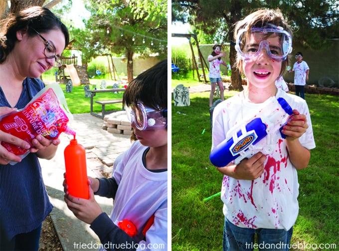 Halloween Zombie Party for Kids! - Water gun