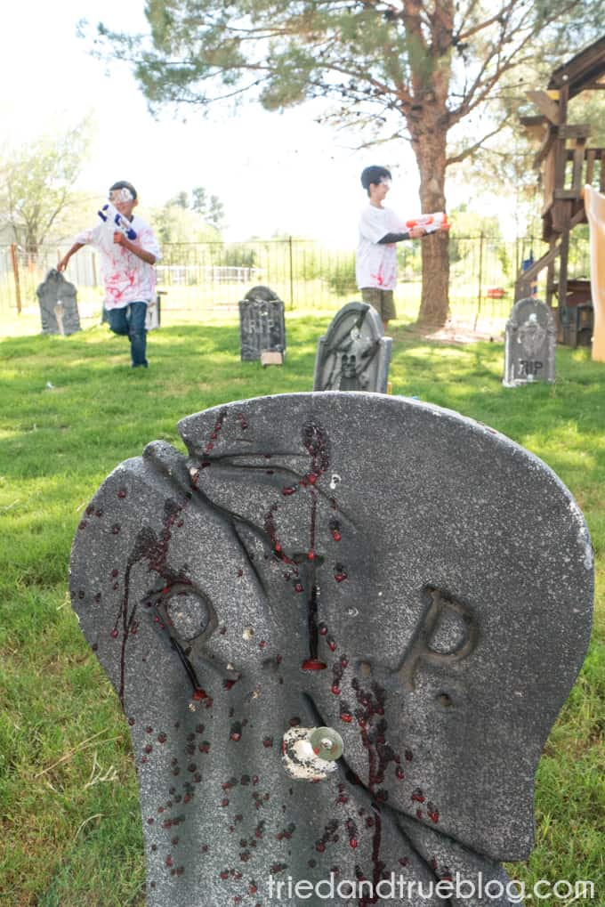 Halloween Zombie Party for Kids! - Gravestone