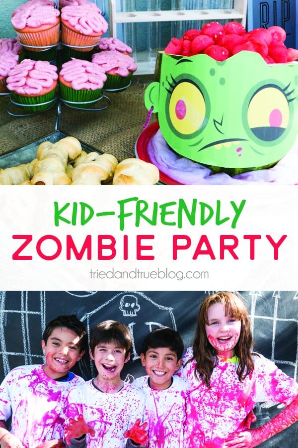 Halloween Zombie Party for Kids! - www.triedandtrueblog.com