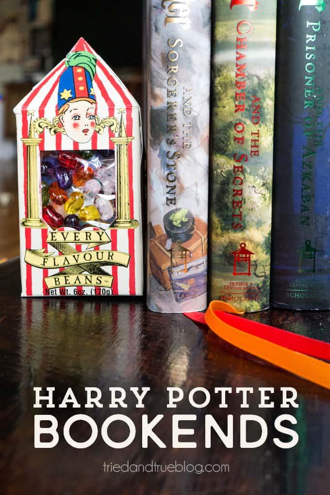 Harry Potter Bertie Bott's Bookends   triedandtrueblog.com