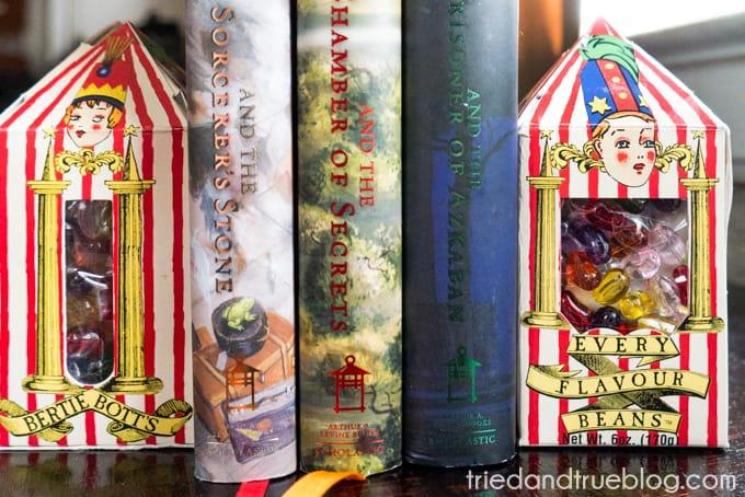 Harry Potter Bertie Bott's Bookends - Holding books