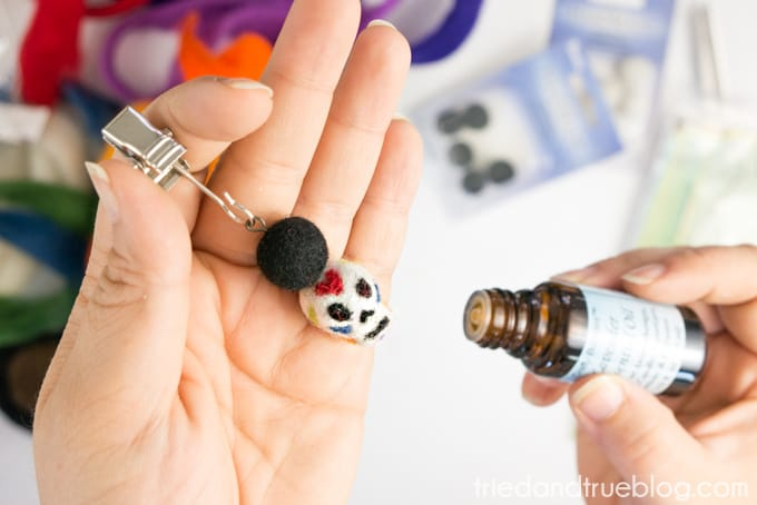 Day of the Dead Essential Oil Car Diffuser - Drops of Essential Oil