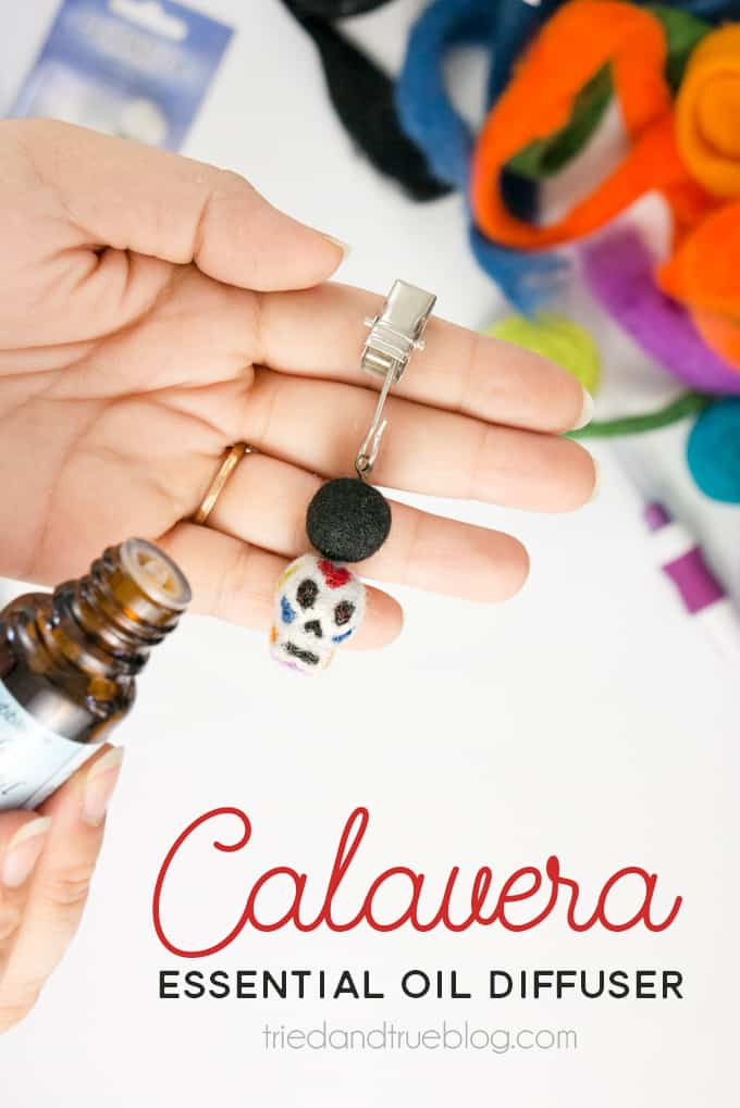 Day of the Dead Essential Oil Car Diffuser - Easy way to take your essential oils on the go!