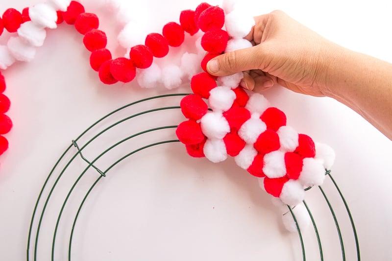 How To Make A Pom Pom Wreath In Minutes! - Wrap