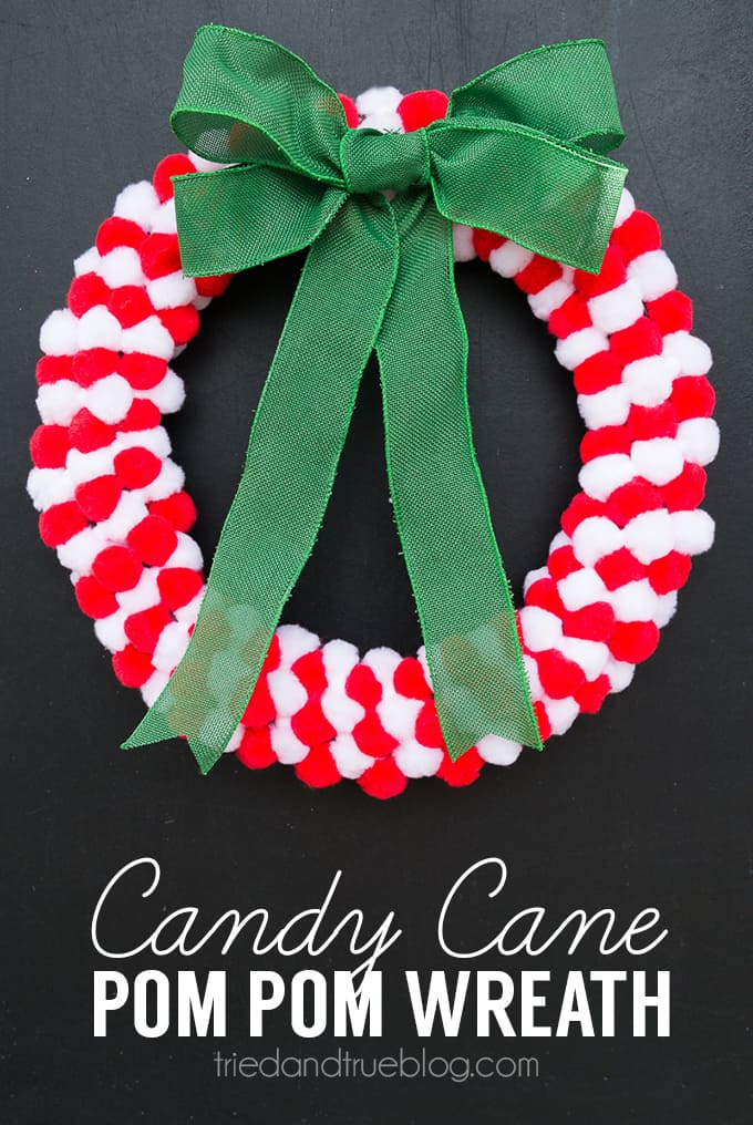 How To Make A Pom Pom Wreath In Minutes! You won't believe how easy this tutorial is!