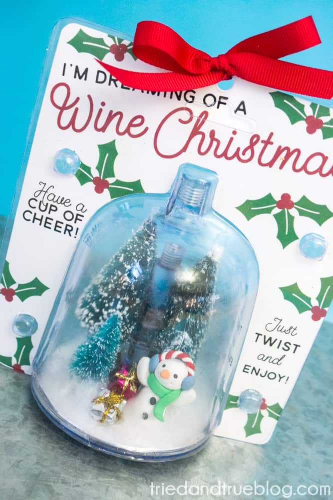 Easy Dollar Store Christmas Gift for Wine Lovers! - Finished