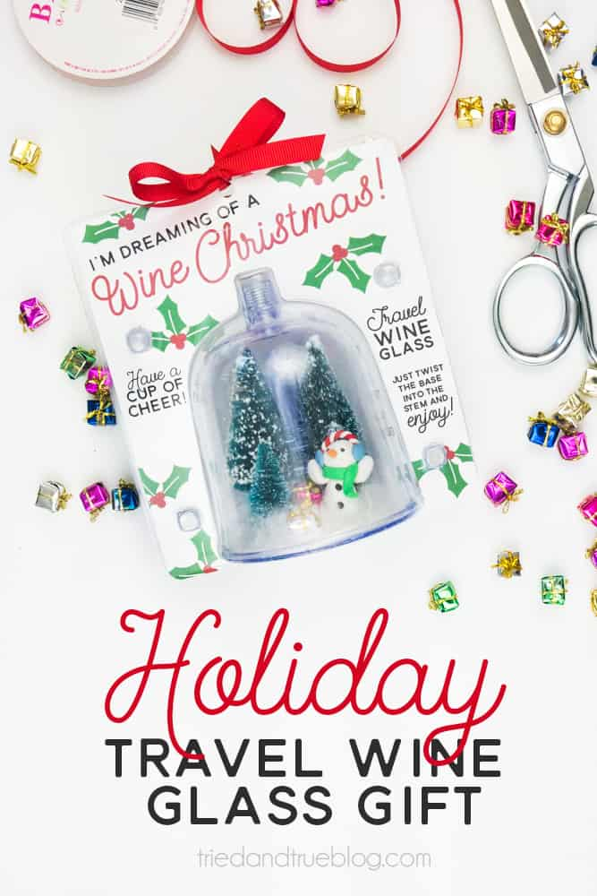 Easy Dollar Store Christmas Gift for Wine Lovers! - Easy and inexpensive to make!