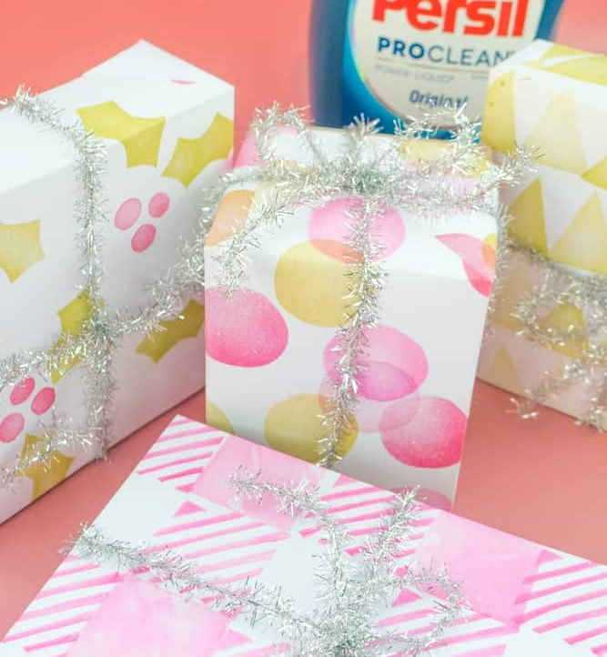Handmade Stamped Holiday Wrapping Paper - Wrapping Paper 2