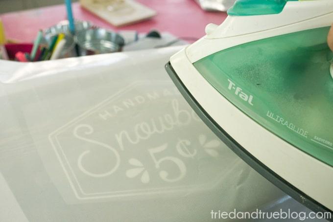 Vintage Snowball Sale Sign - Iron