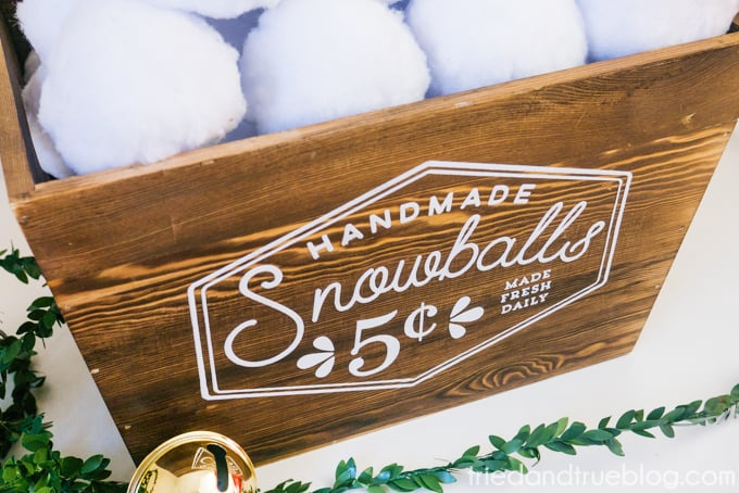 Vintage Snowball Sale Sign - Snowball Box