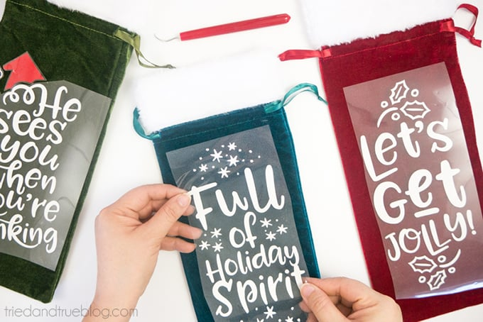 Holiday Wine Gift Bags Free SVG Files - Place