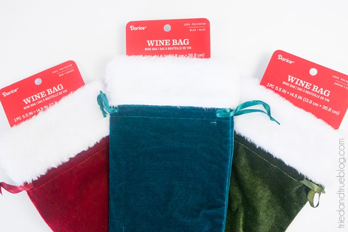 Holiday Wine Gift Bags Free SVG Files - Bags