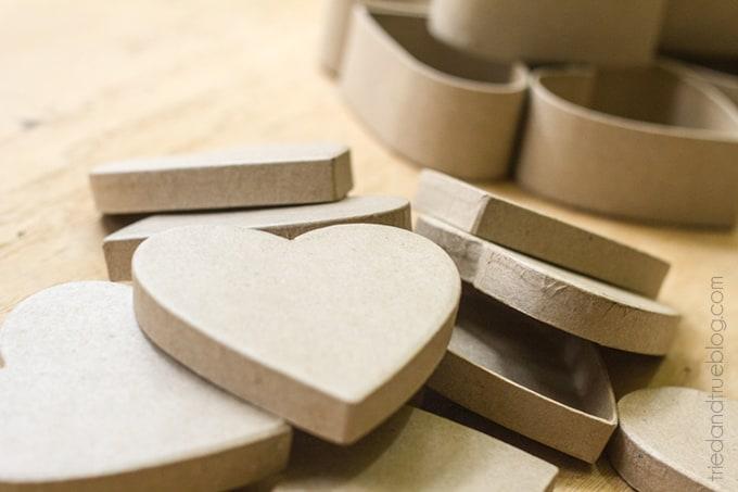Candy Hearts Valentine's Day Wreath - Paper Mache Hearts