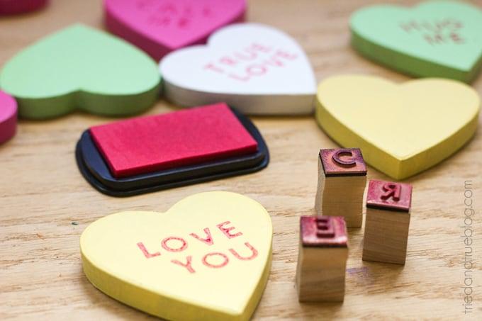 Candy Hearts Valentine's Day Wreath - Stamp