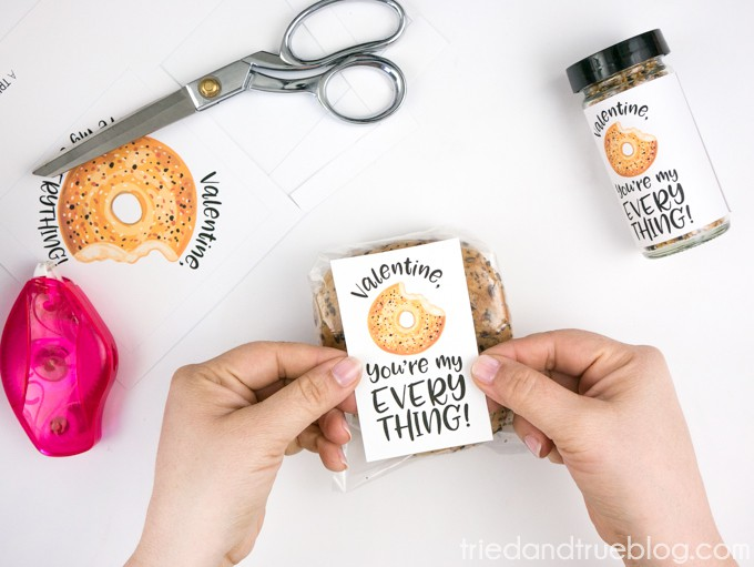 Everything Bagel Valentine's Day Gift - Bagel Packaging