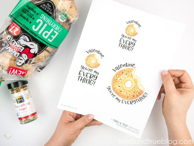 Everything Bagel Valentine's Day Gift - Printable