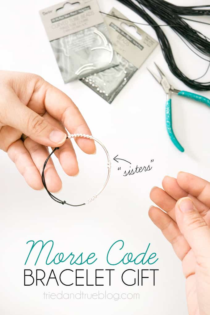 Morse Code Bracelet Valentine's Day Gift - Easy to make, perfect to give!