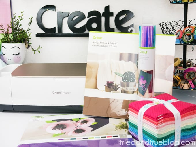 Materials that can be cut with Cricut Maker.