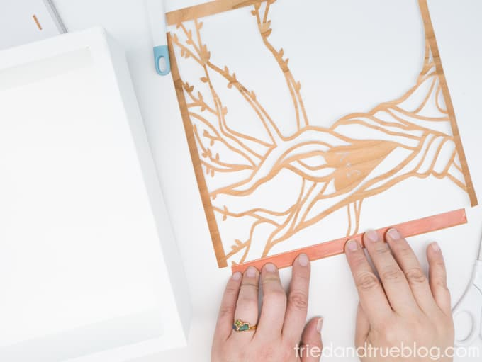 Customized Carved Tree Artwork with Cricut - Tape