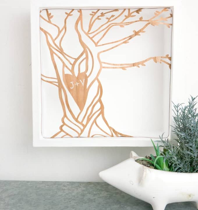 Customized Carved Tree Artwork with Cricut - Hang