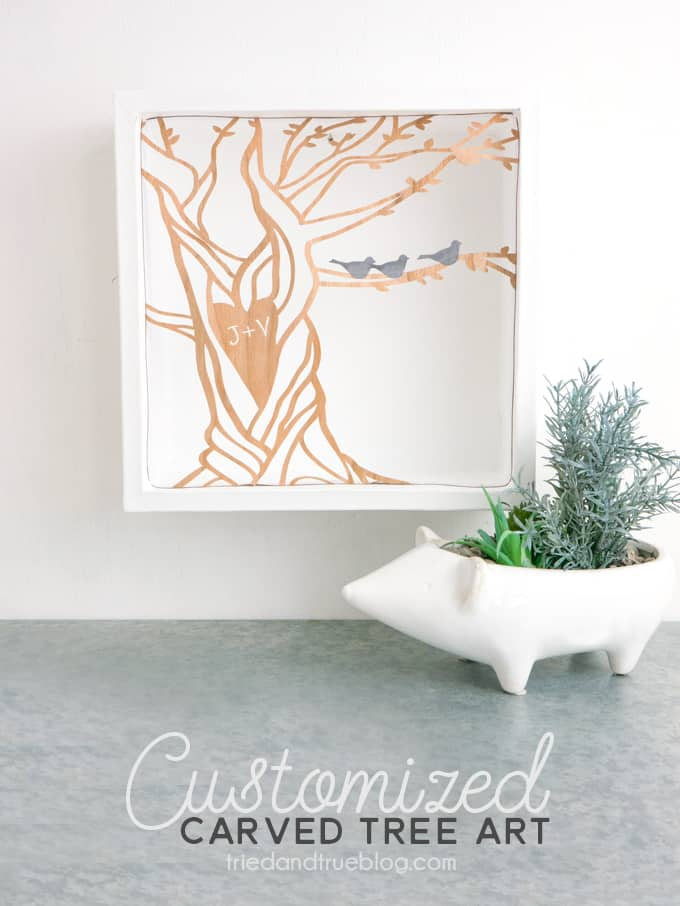 Make this Customized Carved Tree Artwork with Cricut Maker!
