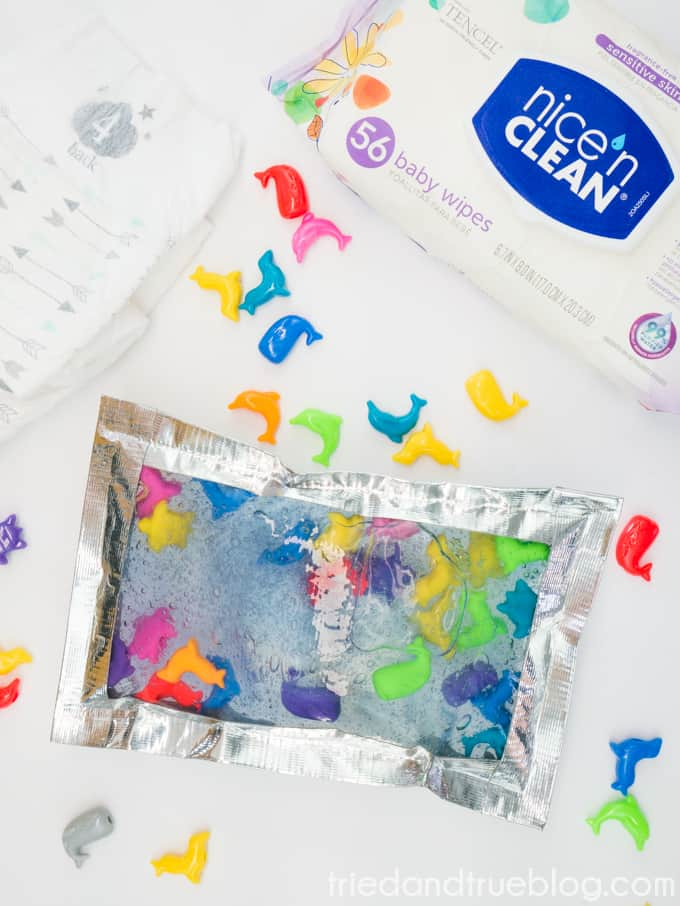 Entertaining your child during a diaper change has never been easier than with this quick project!