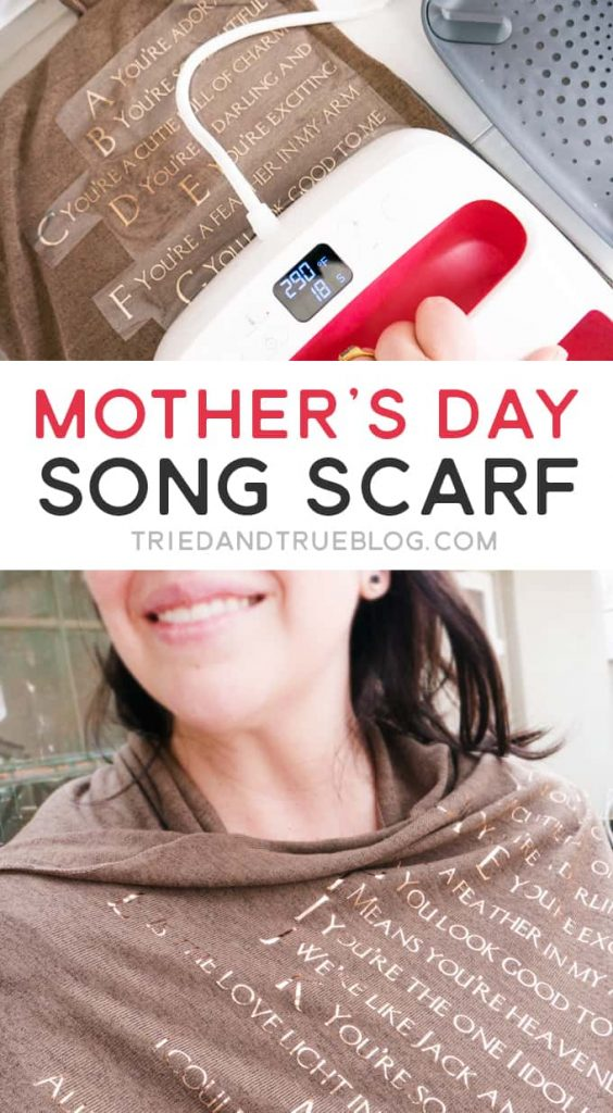 This Mother's Day Song Scarf is an easy project to make for your amazing mom!